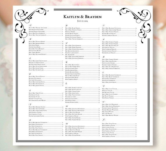 free wedding seating chart templates you can customize. the ...