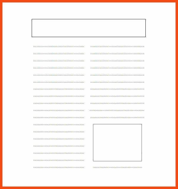 blank newspaper template | program format