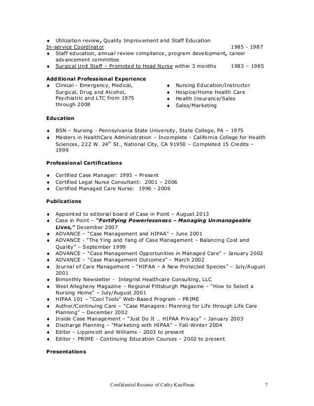 RESUME cathy's Resume 1-1-17