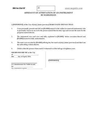 Affidavits and Declarations | Legal Forms and Business Templates ...