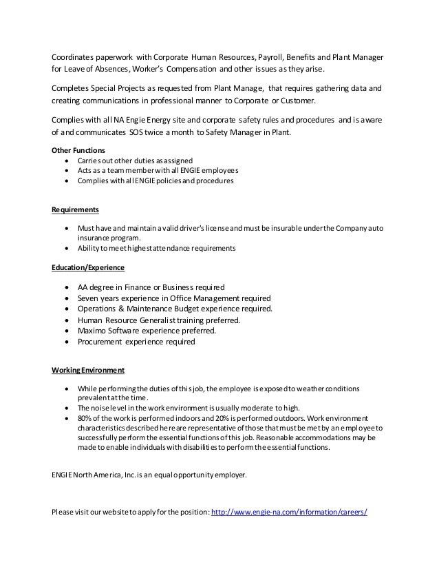 College Park Site Admin job description 111616