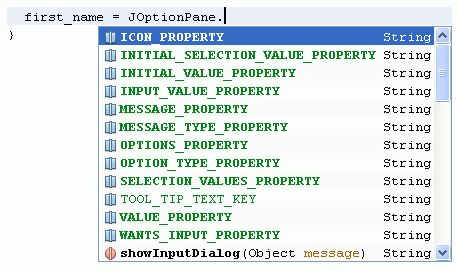 Java For Complete Beginners - option panes