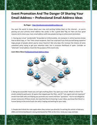 Professional email address ideas by fvdfgvdsbxs - issuu