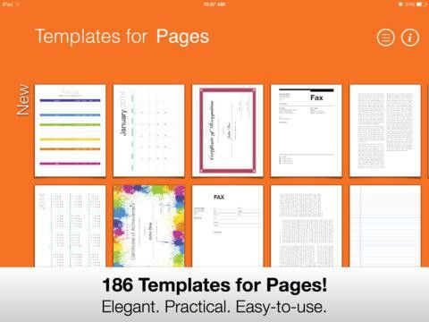 Templates for Pages (for iPad, iPhone, iPod touch)| iPhone App ...