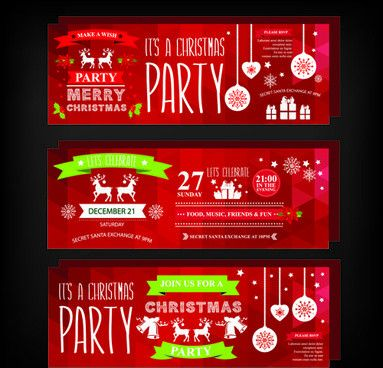 Free christmas party invitation template free vector download ...