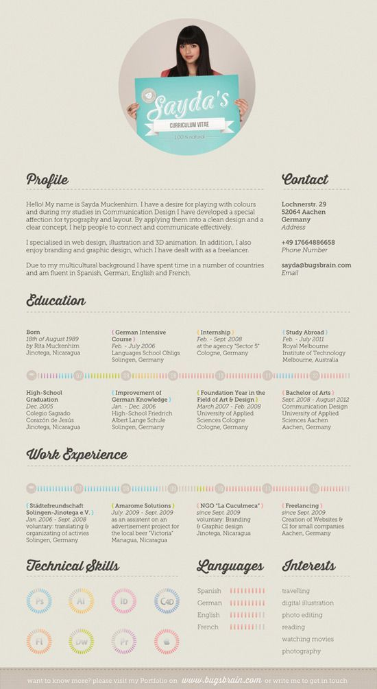 145 best Resume & CV Designs images on Pinterest | Cv design ...
