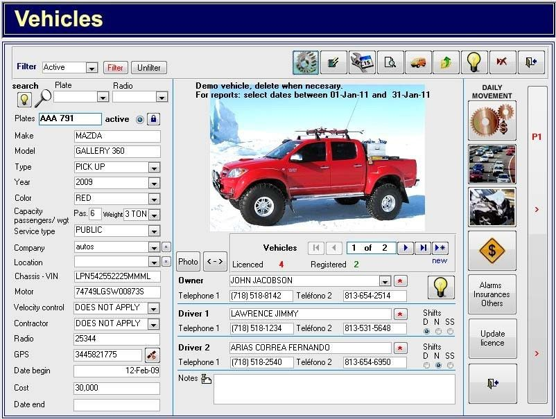 Freeware Download: Fleet Maintenance Excel Template