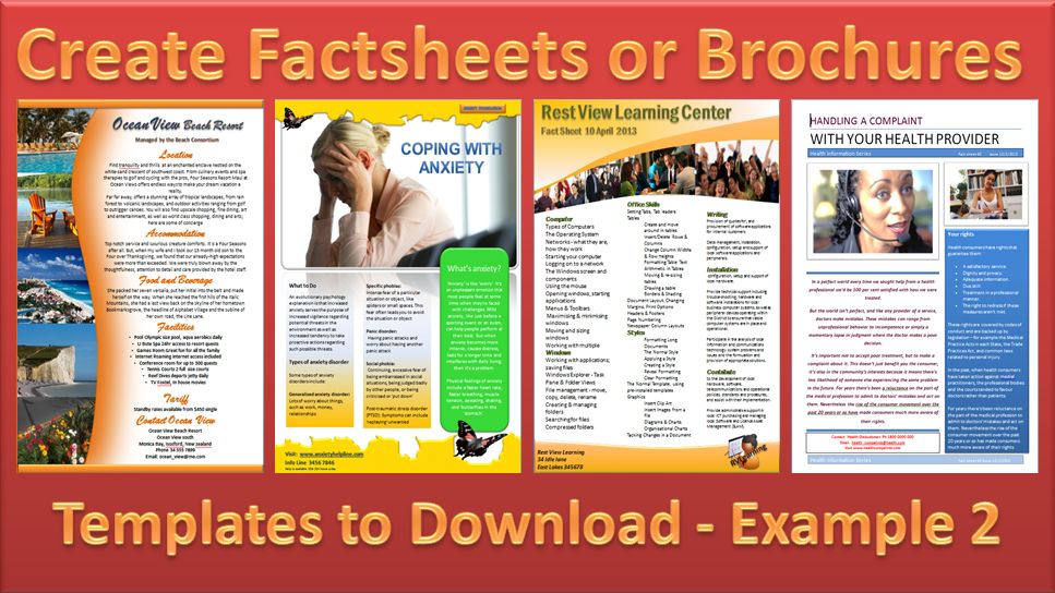 Make a Brochure - Factsheet that Rocks - Microsoft Word and ...