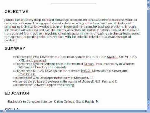 need objective in resume
