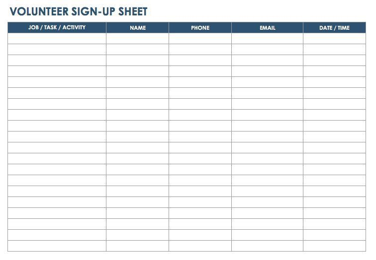 7+ Printable Sign up, Sign in Sheet Templates {Word-Excel} | ExcelBuz