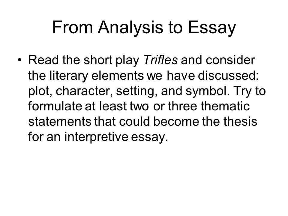 Writing an Interpretive Essay - ppt video online download