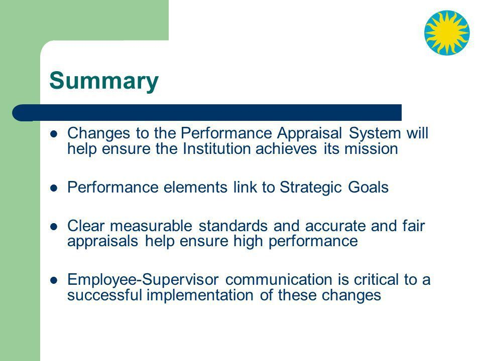 Performance Appraisal System Update - ppt video online download