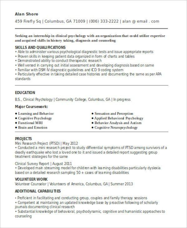 10+ Internship Curriculum Vitae Templates - 10+ Free Word, PDF ...