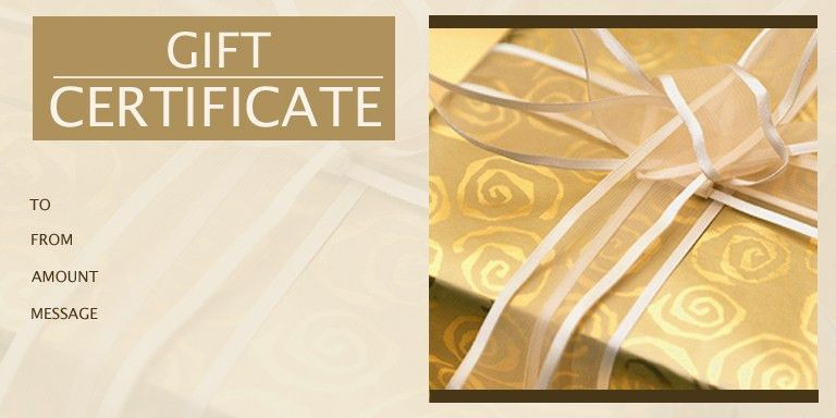 1 | Gift Certificate Templates | Gift Certificate Factory