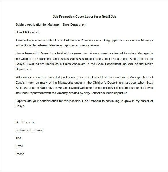 cover letters for promotion fresh cover letter for promotion 12