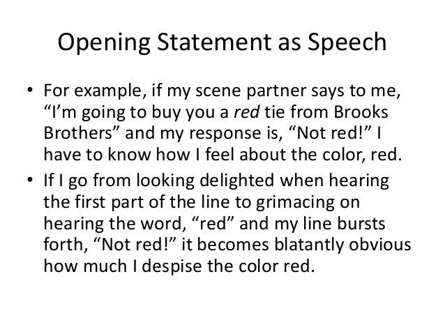 Module 23: Opening Statement as Speech & The Extemporaneous Method