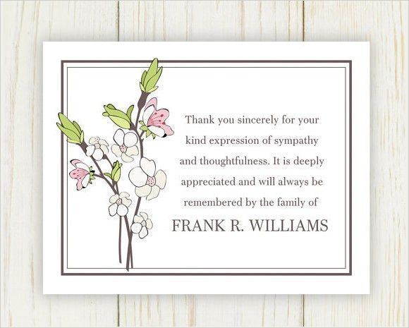 9+ Funeral Thank You Notes - PSD, PDF