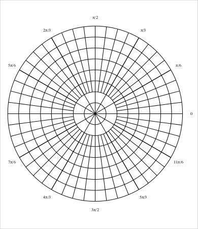 Polar Graph Paper Template - 6+ Free PDF Documents Download | Free ...