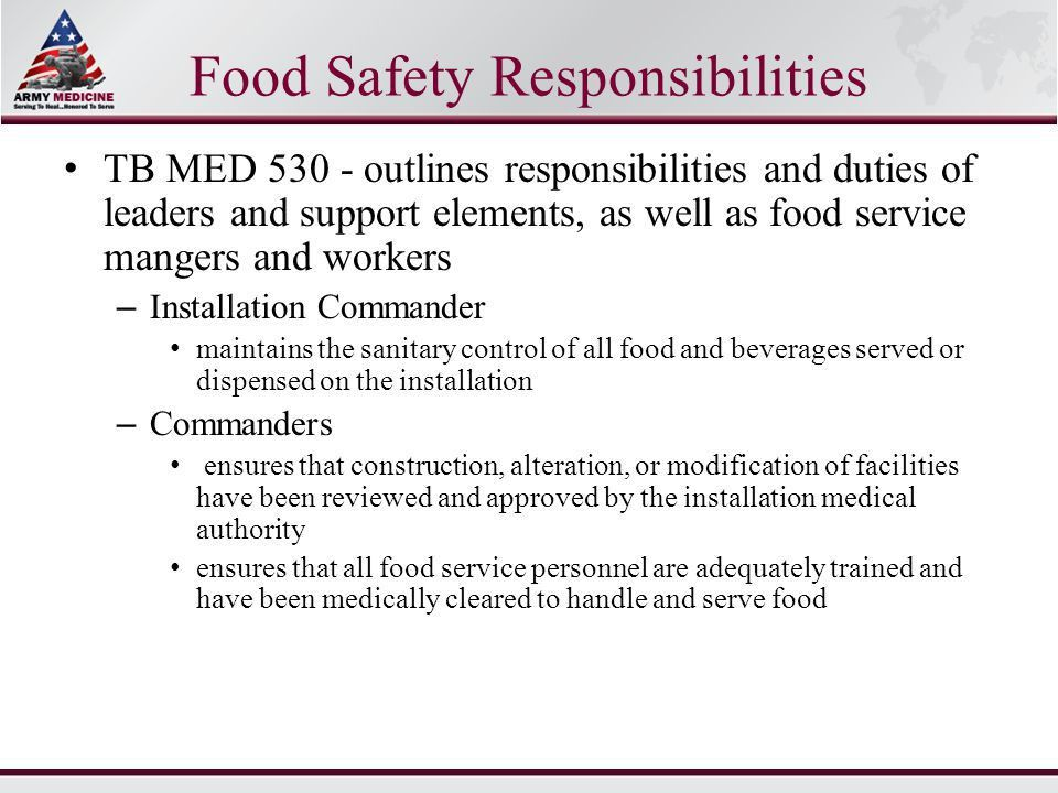 United States Army Basic Food Handler's Course - ppt download
