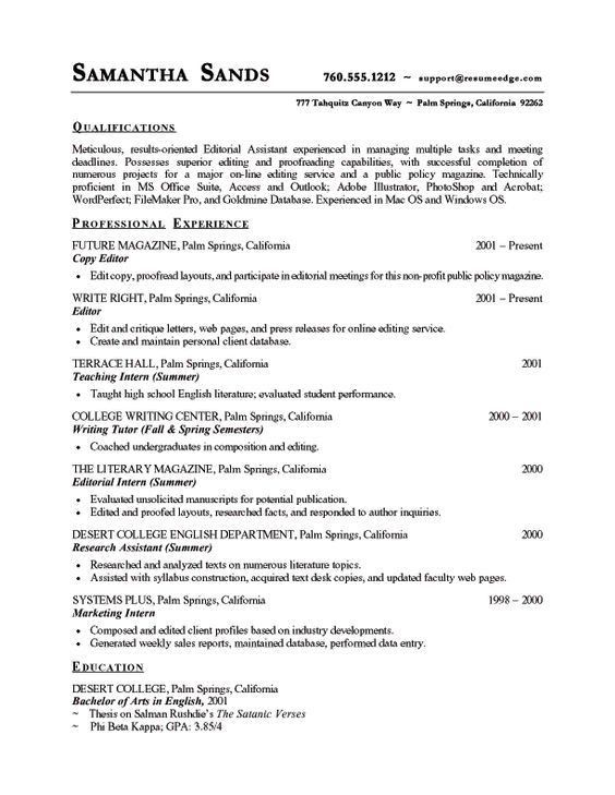 resume examples | free sample resume template sample-resume ...