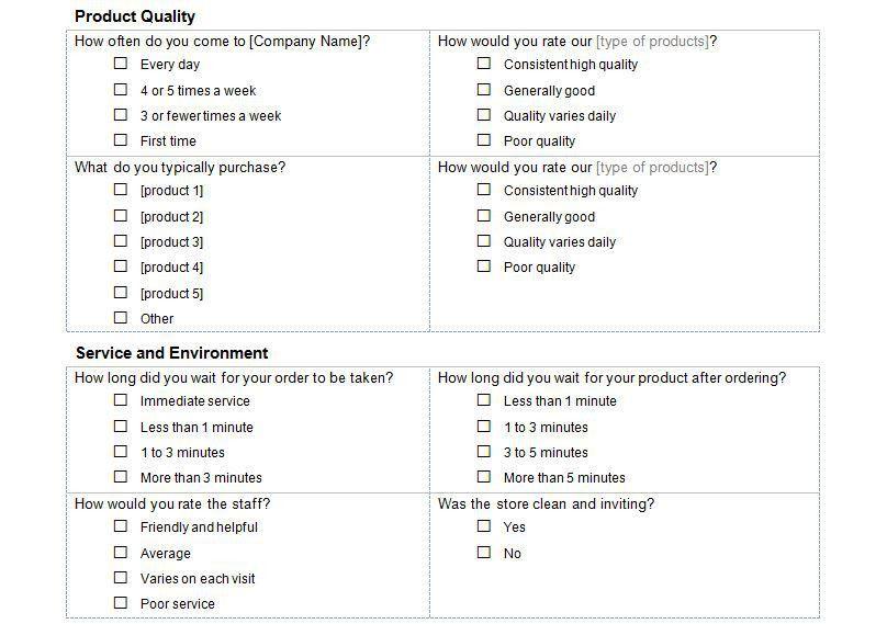 Blank Survey Template. Likert Scale 03 30 Free Likert Scale ...