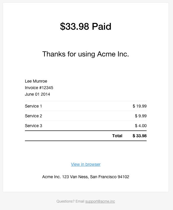 All SaaS Products Should Send E-mail Receipts