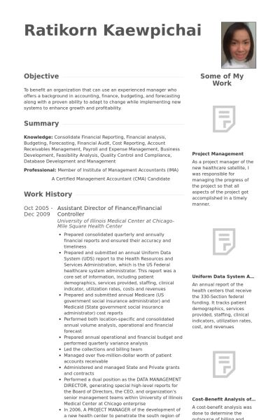 Controller Resume Sample] Resume, Resume Sample 6 Controller Chief ...