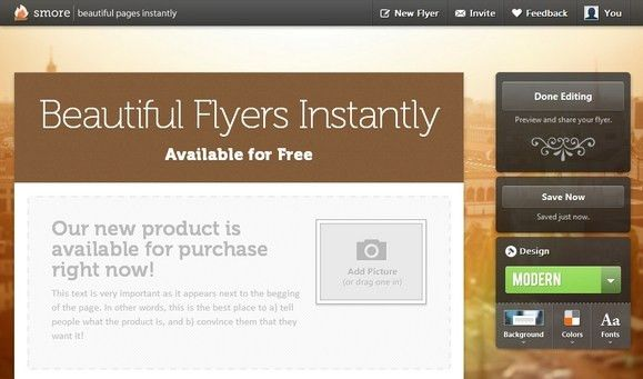 Create Beautiful Online Flyers with Smore for Free | Web Resources ...