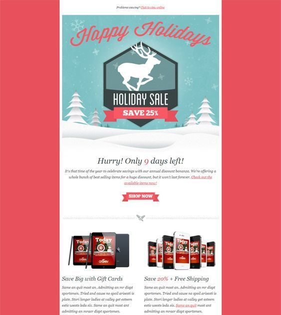 13 best More of the Best Christmas/Holiday Email Templates images ...