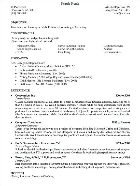 College Resume Template. High School Student Resume Example ...