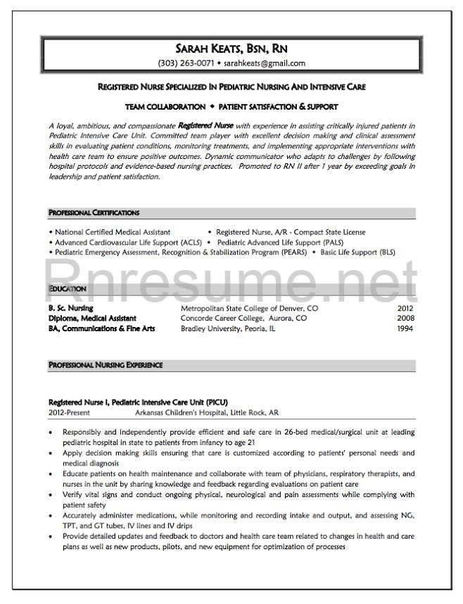 sample graduate nurse resume objectives nurse resume template. new ...
