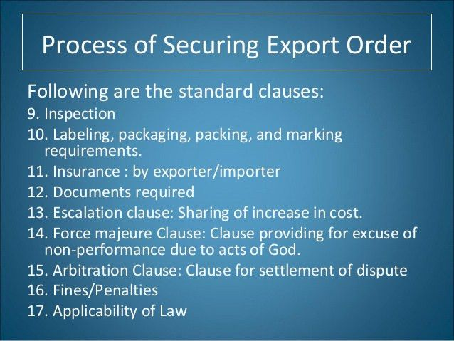 Purchase Order : Exporter , Importer, Buying Agent
