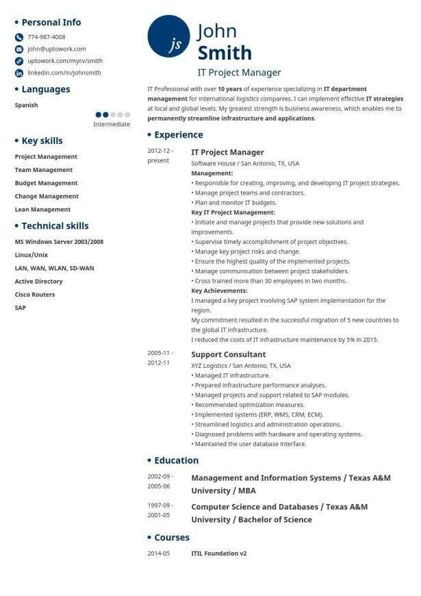 Curriculum Vitae : Resume Template For Australia Release Manager ...