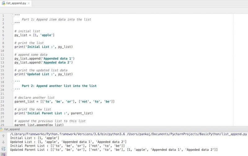 Python List Append - JournalDev
