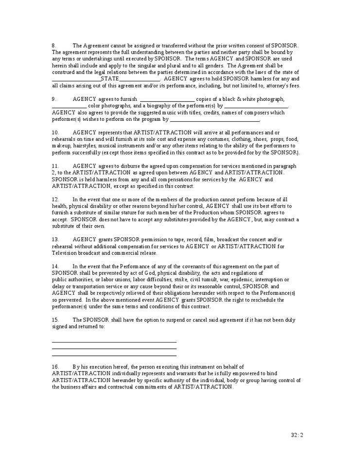 Event Sponsorship Agreement Template Sponsorship Agreement Template
