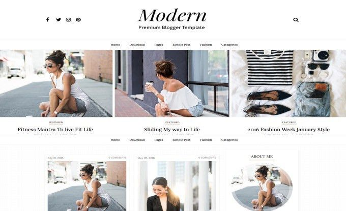 Modern Sidebar Blogger Template. free professional blogger ...