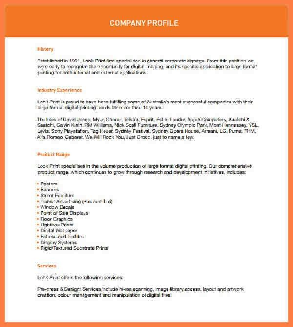 7+ company profile sample design | Company Letterhead