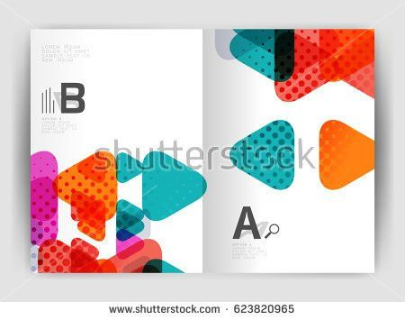 Vector Triangle Business Annual Report Cover Stock Vector ...