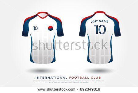 Soccer Tshirt Design Uniform Set Soccer Stock Vector 692349019 ...