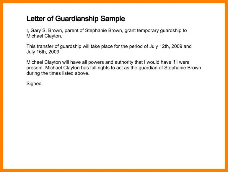 9+ child custody letter sample | science-resume