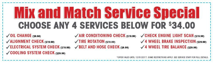 Service Specials and Coupons