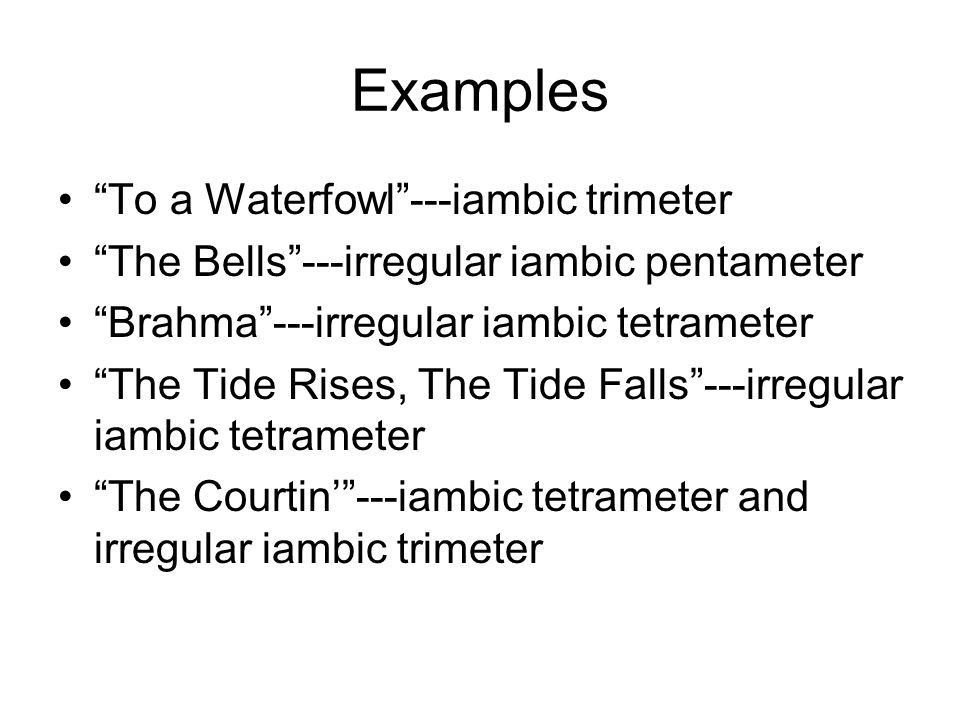 Meter and Scansion The intended effects of stress. - ppt download