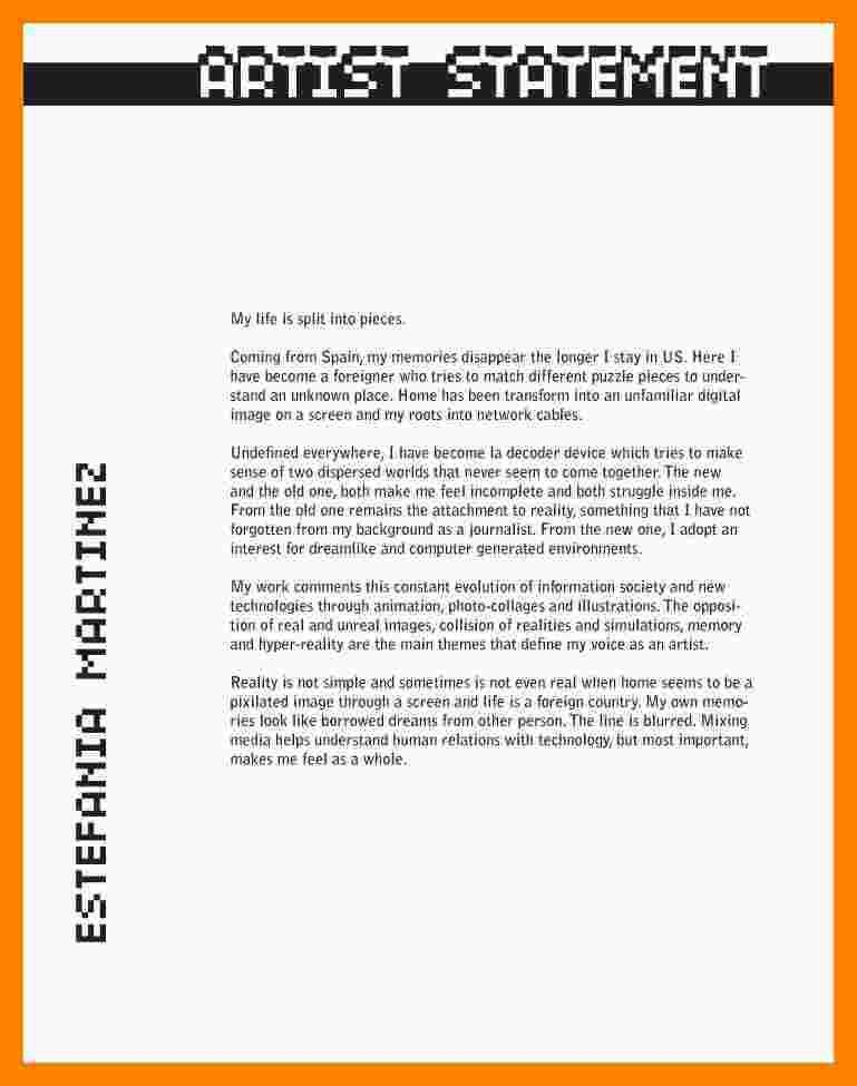 6+ artist statement example | resumes great