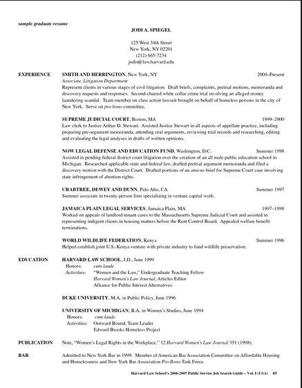 Harvard Law School Cover Letter   Resume Cover Letter Template