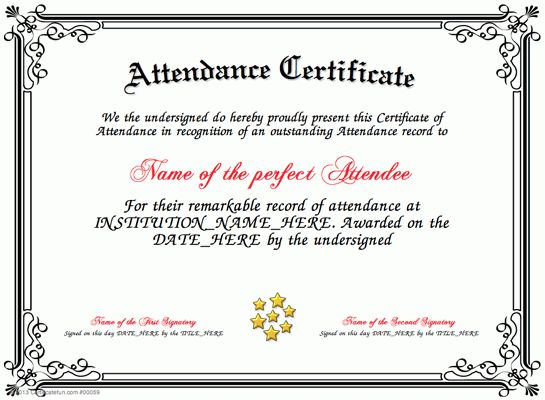 Special Certificate - Award Certificate of Participation ...