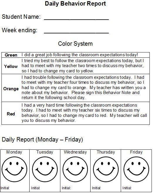 Best 20+ Daily behavior report ideas on Pinterest—no signup ...