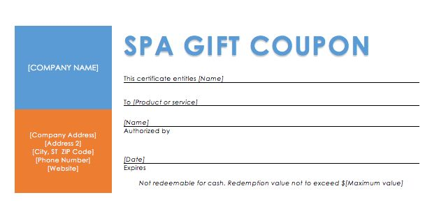 Spa Discounts – Coupon Templates