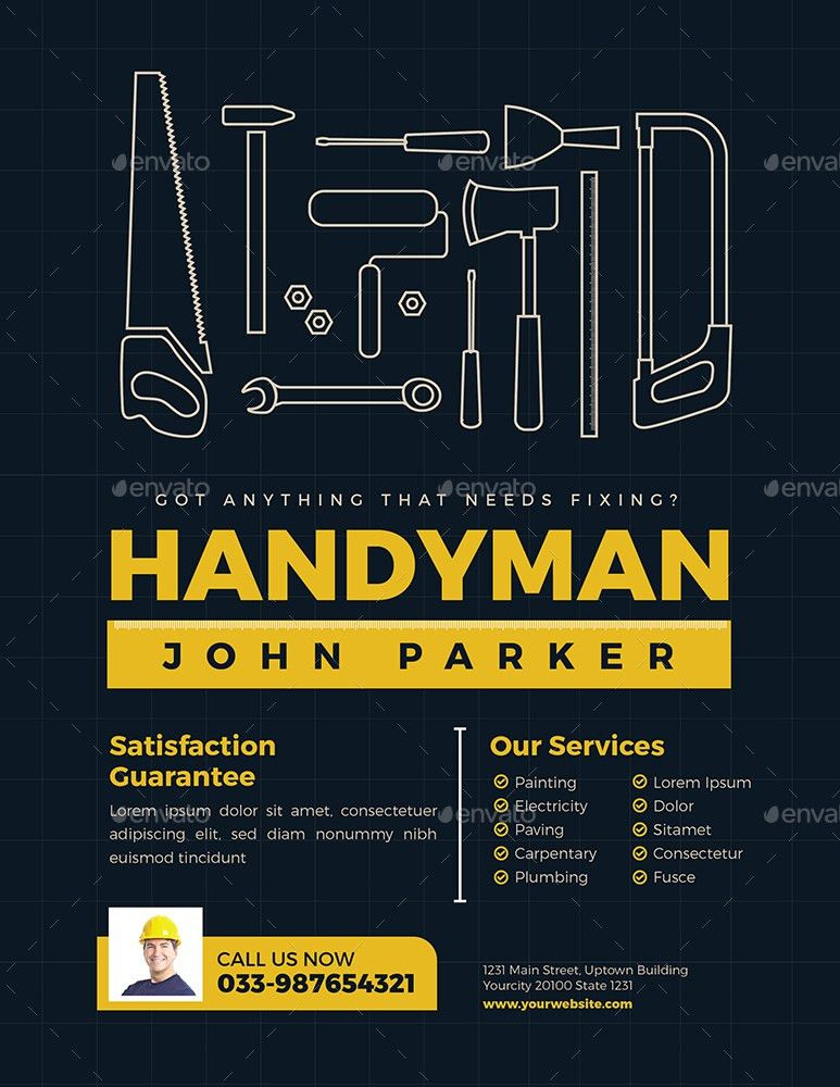 Handyman Flyer by guper | GraphicRiver