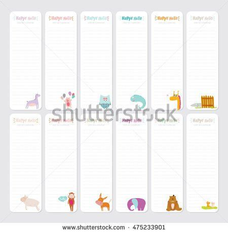 Daily Note Template. Cute Daily Note Template Notebook Paper And ...