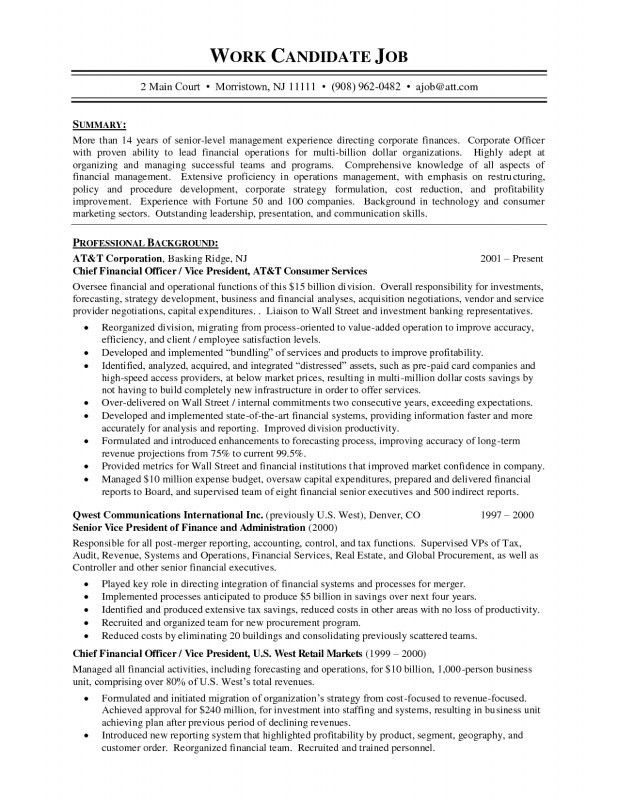 Chief Of Staff Resume Sample | Samples Of Resumes